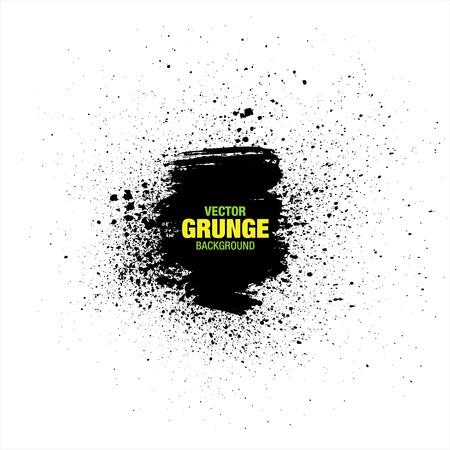 splotches: Black vector grunge background. Vector Illustration Illustration