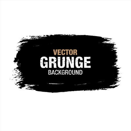 daub: Black vector grunge background. Vector Illustration Illustration