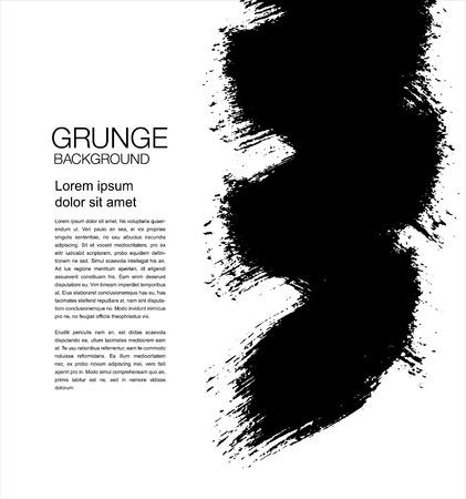 Black vector grunge background. Vector Illustration