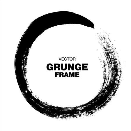 grunge vector, circle brush stroke