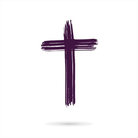 grunge cross: hand drawn cross. grunge cross