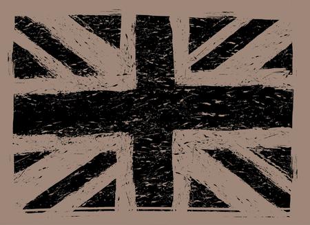 great britain flag: grunge great britain flag