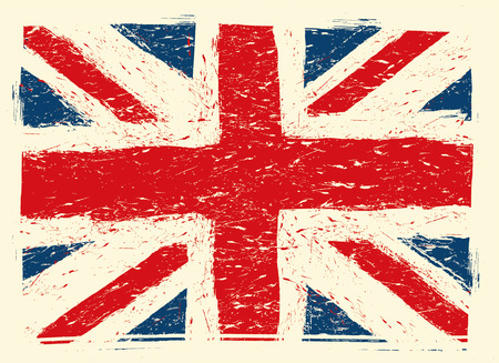 great britain flag: grunge great britain flag
