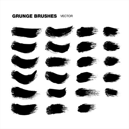 brush strokes: grunge brush strokes set Illustration