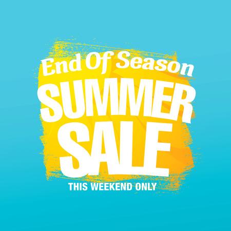 tally: End of Season. Summer sale. Vector template banner