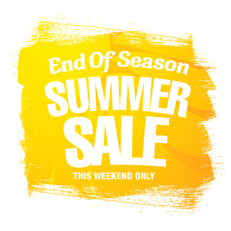 season: End of Season. Summer sale. Vector template banner