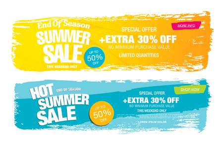 hot summer: Hot summer sale template banners