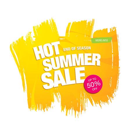 hot summer sale template banner