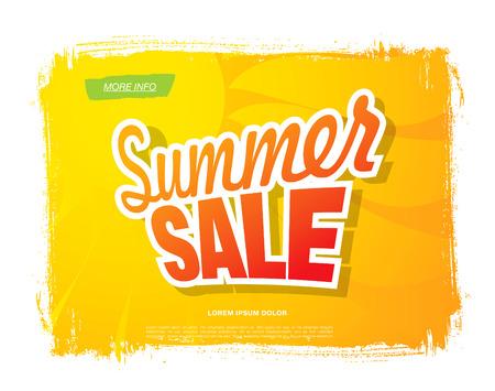tally: Summer sale. Vector template banner Illustration
