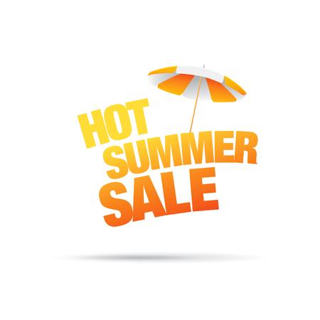 tally: Hot summer sale lettering Illustration