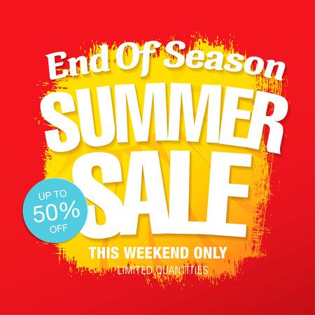 tally: summer sale template banner Illustration