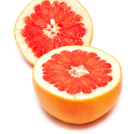 segments: grapefruit cut into two segments