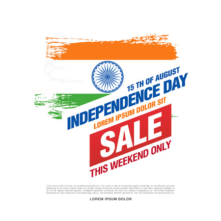 august: Sale banner. Independence Day of India. 15 th of August