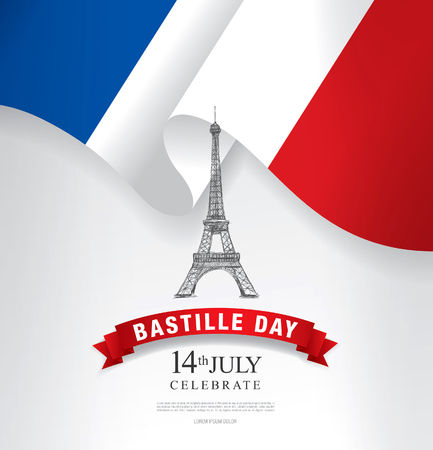 France. 14 th of July. Happy Bastille Day.