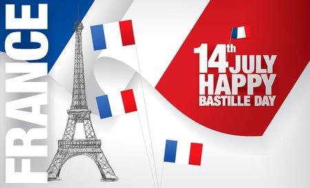 the bastille: France. 14 th of July. Happy Bastille Day.
