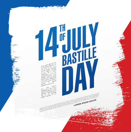 bastille: France. 14 th of July. Happy Bastille Day.