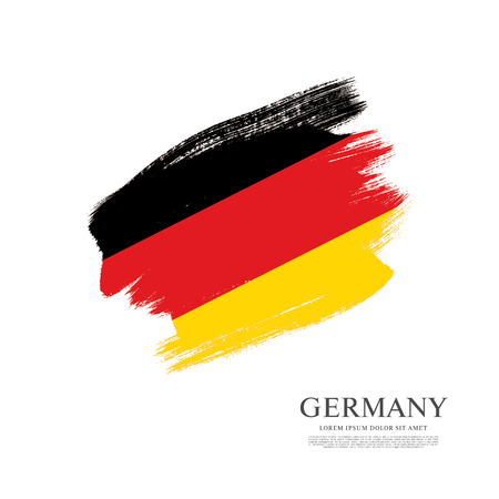 made in germany: Flag of Germany made in brush stroke background Illustration