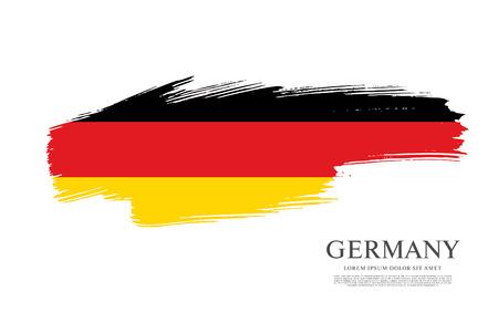 Flag of Germany made in brush stroke background Ilustração