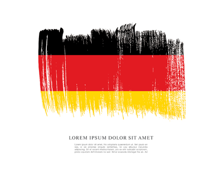Flag of Germany made in brush stroke background Vectores