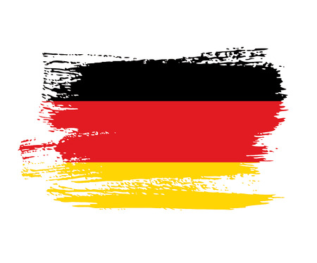 Flag of Germany made in brush stroke background Illustration