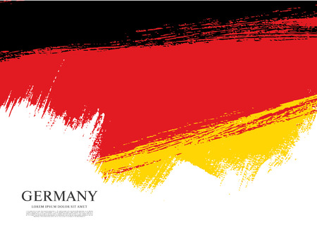 Flag of Germany made in brush stroke background 矢量图像