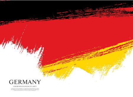 Vlag van Duitsland in penseelstreek achtergrond