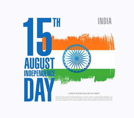 Independence Day of India. 15 th of August Vector Illustration
