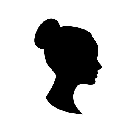 hairdo: silhouette of young woman