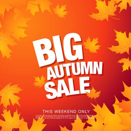 tally: Big autumn sale Illustration