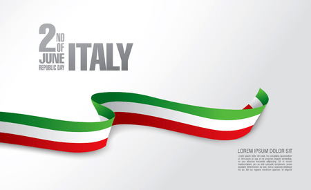 Italy. Second of June. Republic day Stock Illustratie