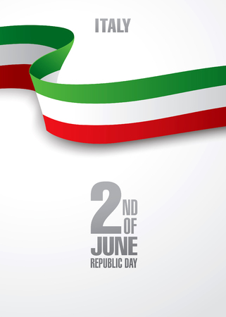 second: Italy. Second of June. Republic day Illustration