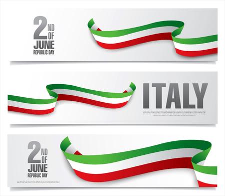 Italy. Second of June. Republic day Vettoriali