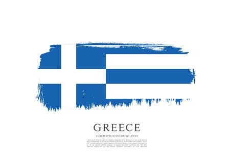 Flagge von Griechenland. Pinselstrich Hintergrund Vektorgrafik