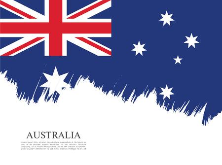 bandera de gran bretaña: Bandera de Australia. Pincel de fondo derrame cerebral
