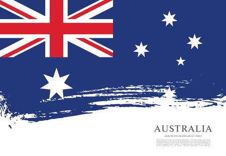 Flag of Australia. Brush stroke background