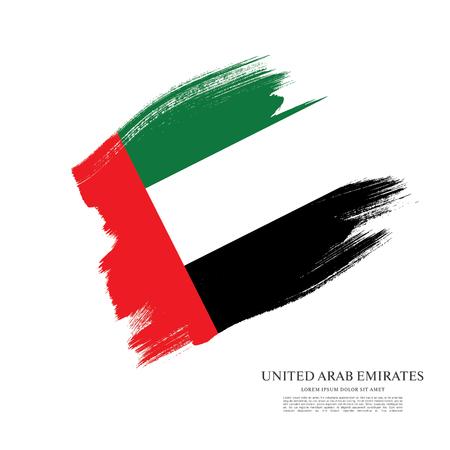 Flag of the United Arab Emirates. UAE flag. Brush stroke background