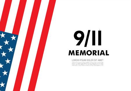 patriot: Patriot Day. September 11. We will never forget Illustration