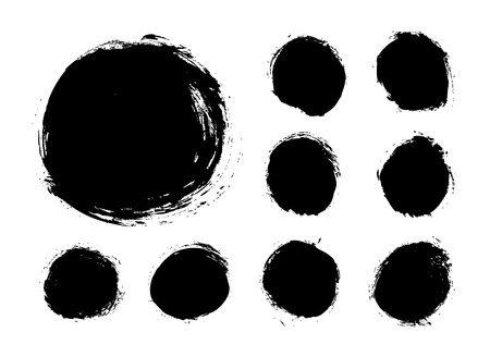 daub: grunge background vector circle texture Illustration