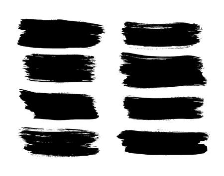 brush strokes: set of brush strokes