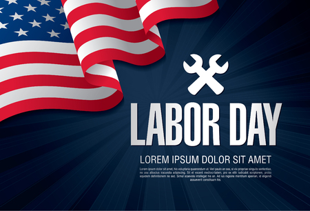 Labor day. Banner Vetores