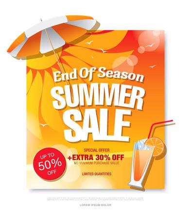 summer sale template banner Illustration