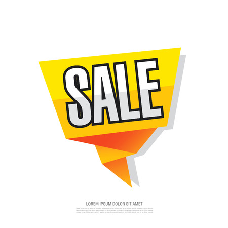 Sale template banner. Poster. Discounts label