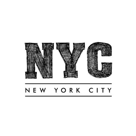 New York City lettering