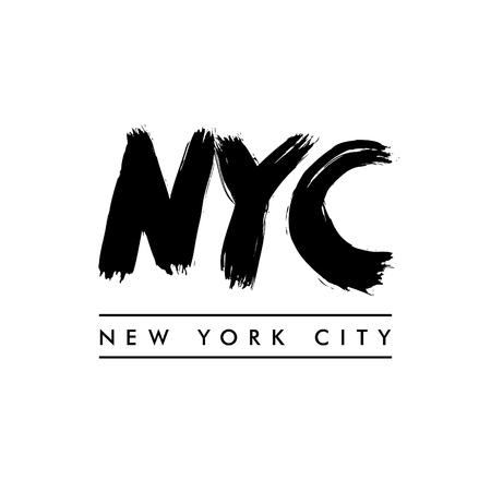 ny: New York City lettering. NYC