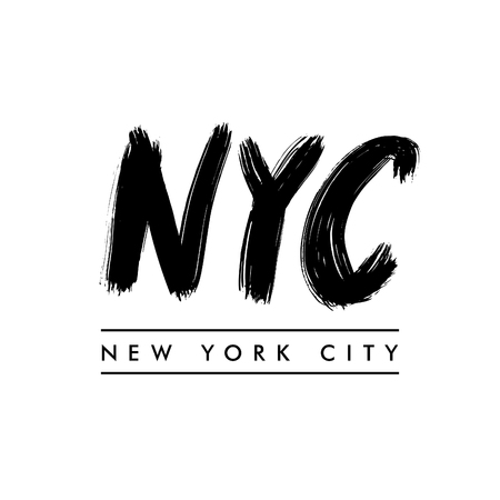 New York City lettering. NYC