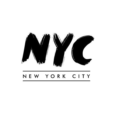 ニューヨーク市のレタリング。ニューヨーク