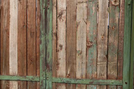 cranny: old wooden cracked peeling wall Stock Photo