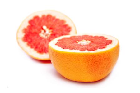 grapefruit cut into two segments
