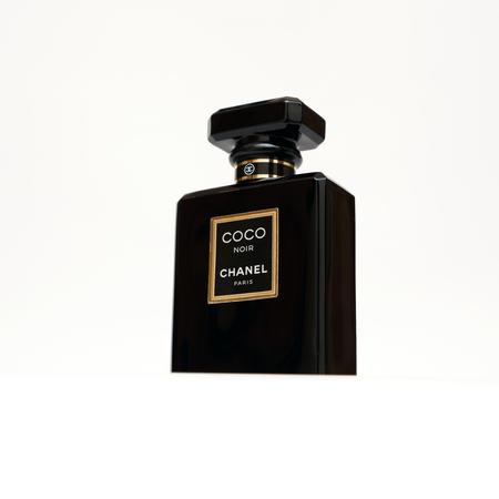 chanel: RUSSIA - OCTOBER 11, 2015: Coco Chanel Noir (Black) Perfume bottle. Paris. France