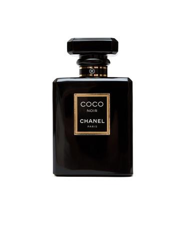 RUSSIA - OCTOBER 11, 2015: Coco Chanel Noir (Black) Perfume bottle. Paris. France